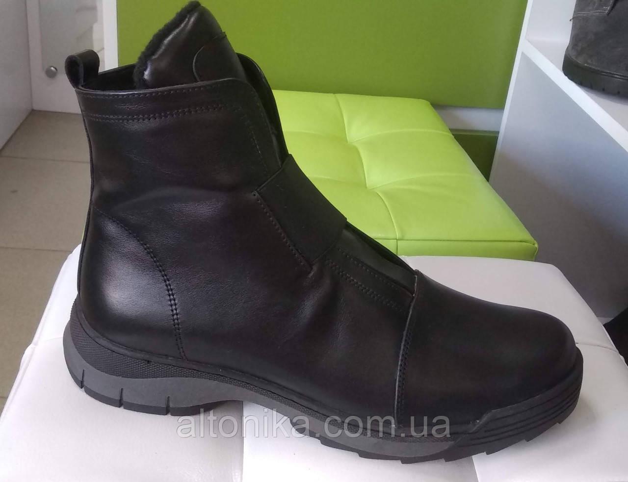 STTOPA 42р зима! Размеры 41-43!Ботинки из натуральной кожи больших размеров! С9-47-4143-4-3343