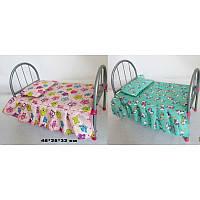 Ліжечко для ляльки з матрацом та подушкою, фото 1