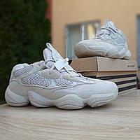 Мужские кроссовки Adidas Yeezy Boost 500 (Адидас Изи Буст 500), бежевые, код OD-10014