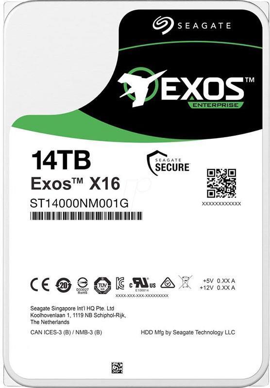 """HDD 3.5"""" SATA 14.0TB Seagate Exos X16 7200rpm 256MB (ST14000NM001G)"""