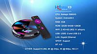 Налаштована TV приставка H96 max X3 4/32 ГБ (Смарт тв приставки на андроїд, TV Box x96 mini), фото 3