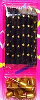 Свечи для торта черные  золотистые звезды