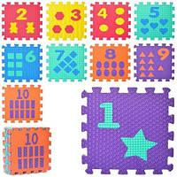 Коврик Мозаика M 0375-1  EVA,10 дет(10мм,31,5-31,5см),массаж,пазл,6текст,кул,31,5-31,5-10см