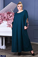 Сукня жіноча довга в підлогу зелене ошатне батал розміри 50 52 54 56 58 Новинка 2020 є колір