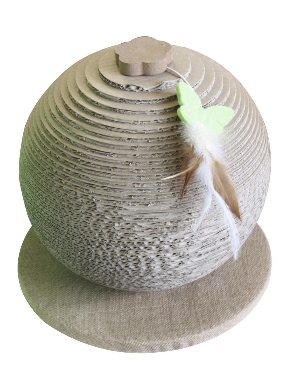 Когтеточка сфера на подставке Croci Papercat Sphere 30*30*33 см (гофрокартон)