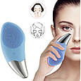 ✔Щетка-массажер Sonic Facial Brush/ электрическая силиконовая для чистки лица♡ влагозащита IPX7/ 4 цвета💎, фото 3