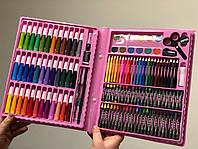 Большой детский художественный набор для творчества и рисования Art set розовый