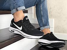 Мужские текстильные кроссовки Nike Run shield,черно-белые, фото 2