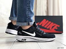 Мужские текстильные кроссовки Nike Run shield,черно-белые, фото 3