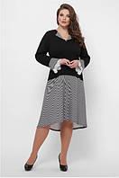 Женское платье приталенное трикотаж ассиметрия большого размера 52, 54, 56, 58 р цвет электрик