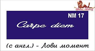 трафарет надпись для биотату NM17