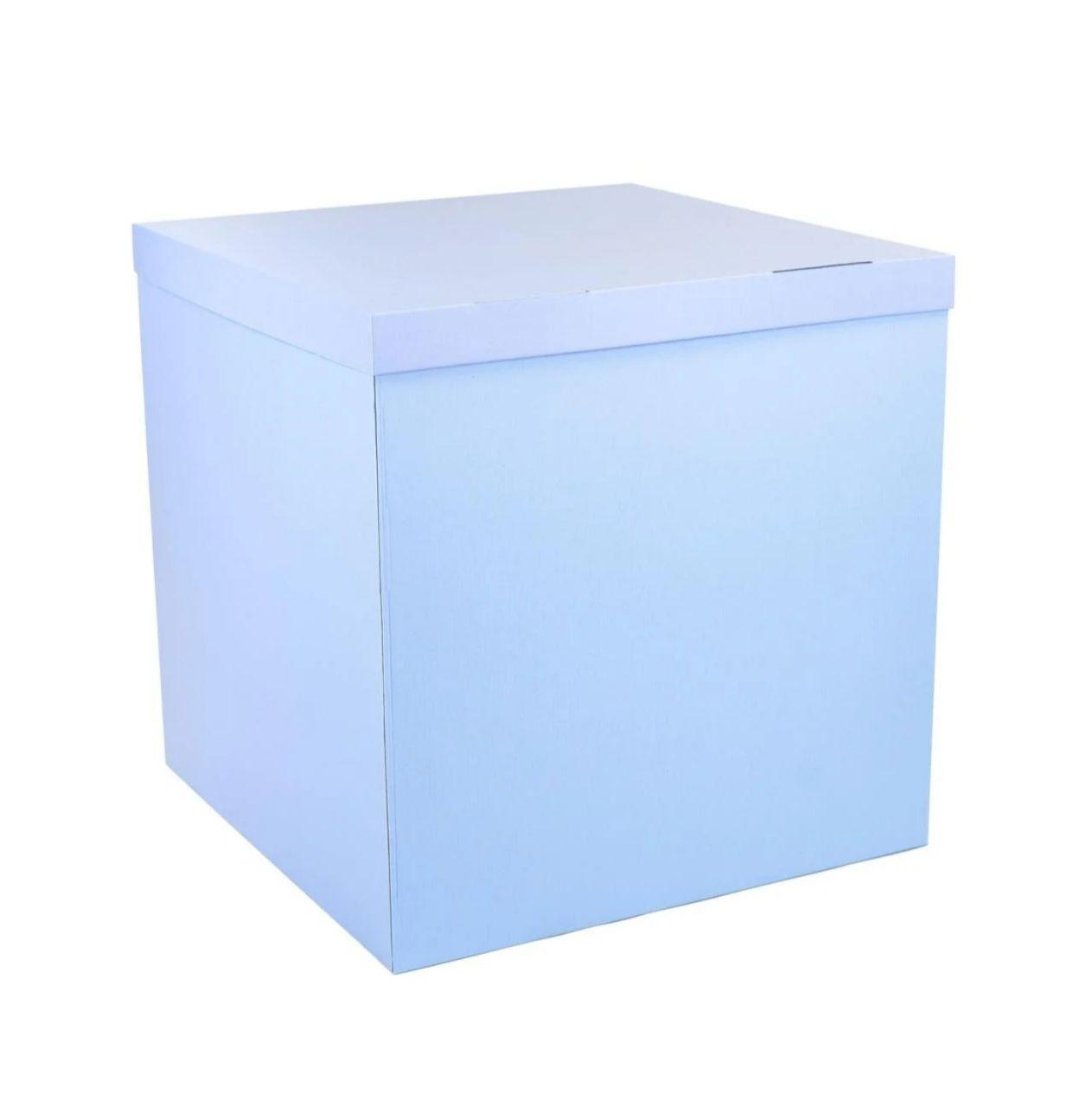 Коробка сюрприз для шаров голубая, класс А 70х70х70см