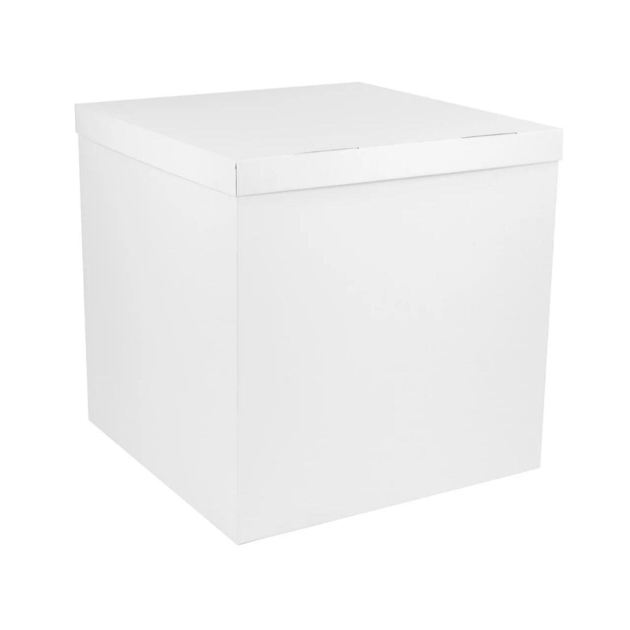 Коробка сюрприз для шаров белая, класс А 70х70х70см (белая внутри)