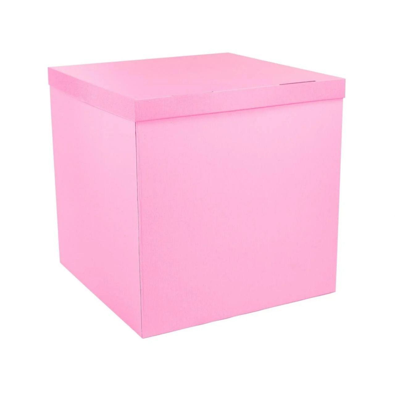 Коробка сюрприз для шаров розовая, класс А 70х70х70см