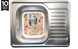 Кухонна мийка з нержавіючої сталі 63*50 см з килимком Donka Satin