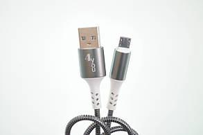 Кабель Usb-cable Micro USB 4you Ebro (2000mah, метал, черный), фото 2