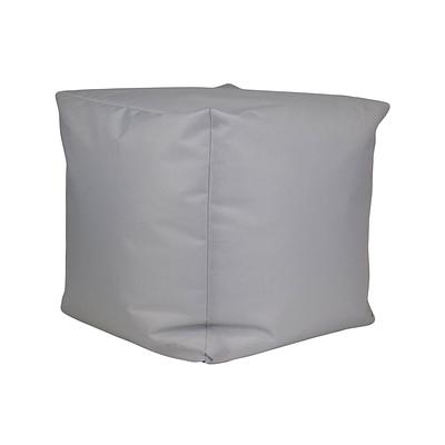 Пуф куб, 25*25*25 см, (оксфорд), (светло-серый)