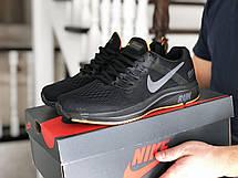 Мужские текстильные кроссовки Nike Run shield,черные, фото 3
