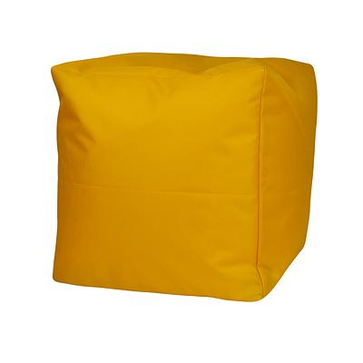 Пуф куб, 25*25*25 см, (оксфорд), (желтый)