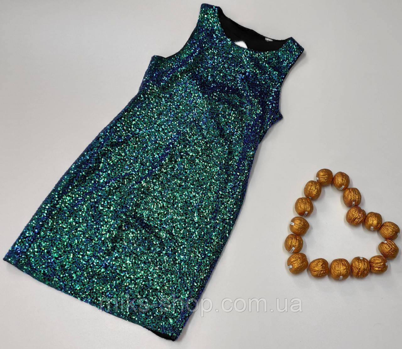Платье пайетки размер 38