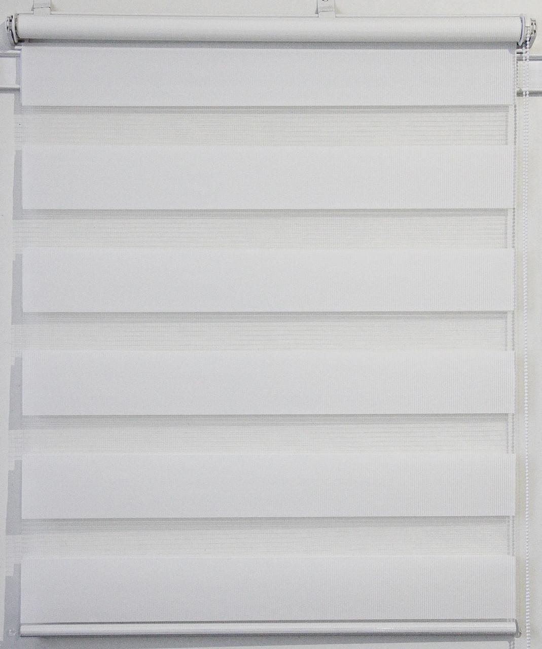 Готовые рулонные шторы 750*1300 Ткань ВН-01 Белый