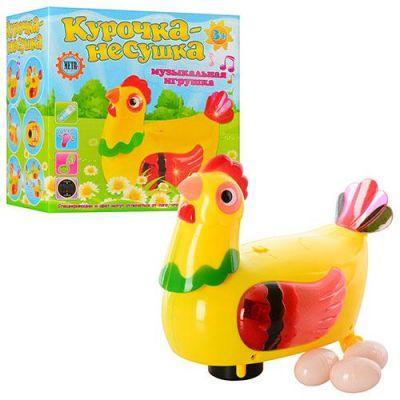 Курица несушка 20259 17-16см, несет яйца, в кр-ке 16-10-15 см