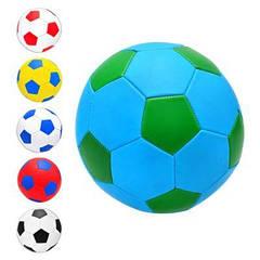 М'яч футбольний EV-3165 розмір 5, ПВХ 1,6 мм, 2слоя, 32панели, 300-320г, 6 кольорів