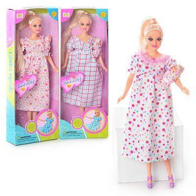 Кукла 6001DEFA беременная в коробке 32-12-5см