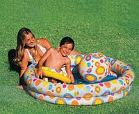 Надувной басейн для детей Intex 59460 c мячом+круг 51см