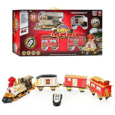 Железная дорога 3048 р/у, звук, свет, дым, в коробке 80-43-15см