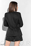 Костюм шортами и жакетом с лацканами черный, фото 3