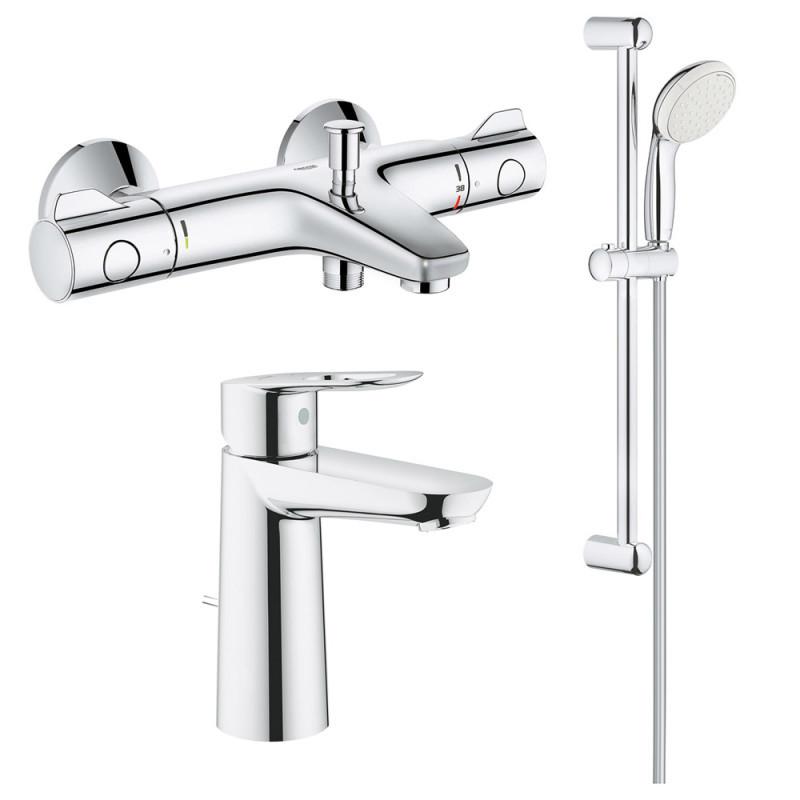 Набор змішувачів GRT800+BauLoop 34550TМ для ванни (23762000+34567000+27598001) Grohe