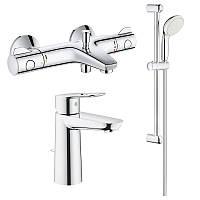 Набор змішувачів GRT800+BauLoop 34550TМ для ванни (23762000+34567000+27598001) Grohe, фото 1