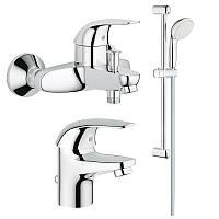 Набор змішувачів Euroeco 123226S набор для ванни 3 в 1 Grohe, фото 1