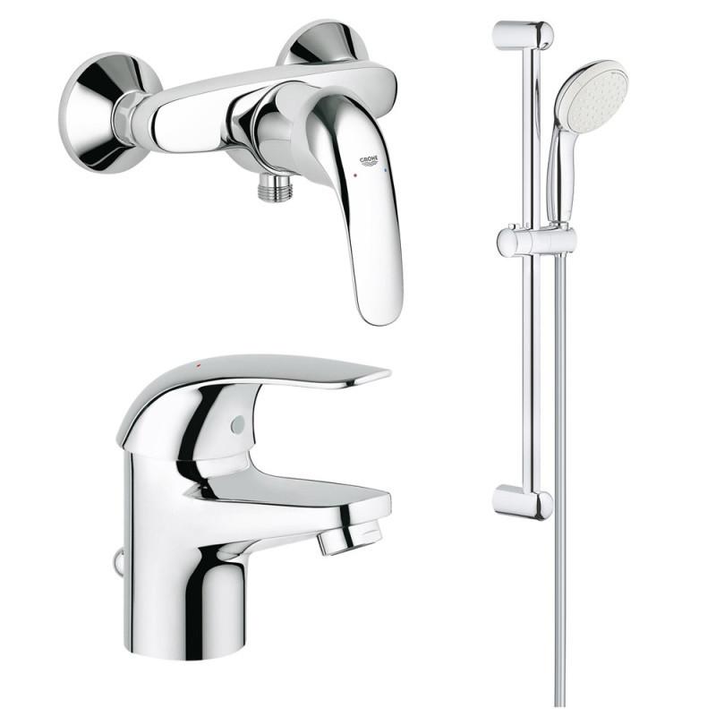 Набор змішувачів Euroeco 123232S для ванни 3 в 1 Grohe