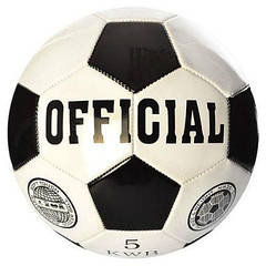 М'яч футбольний EN-3226 розмір 5, ПВХ 1,6 мм, 260-280г, в кульку
