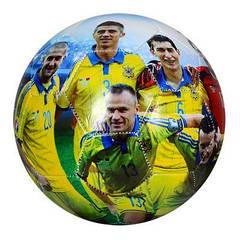 М'яч футбольний EV 3152-1 розмір 5, ПВХ 1,8 мм, 2слоя,32панели,300-320г,збірна(Україна)
