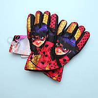 Перчатки зимние Леди Баг для девочки тм Nicklodeon размер 9-10, 11-12 лет