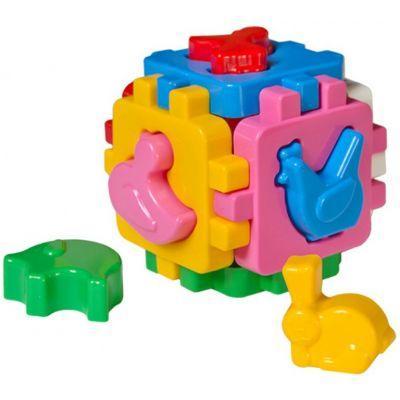 """Игрушка куб """"Умный малыш Домашние животные ТехноК"""" 1943 размеры 10 x 10 x 10 см"""