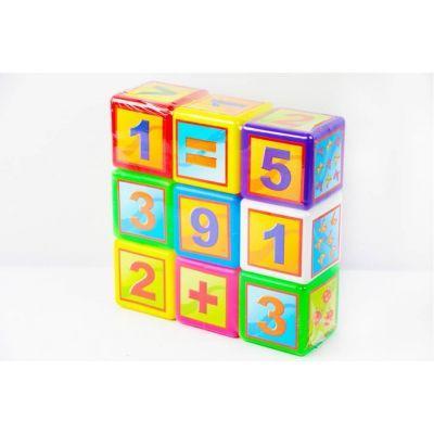 Кубики МАТЕМАТИКА малые 9 шт БАМСИК