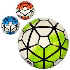 М'яч футбольний NK2 3000-4ABC розмір 5, ПУ, 1,5 мм, 4 шару, 32 панелі, 410-430 г, 3 кольори