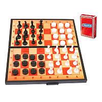 Набір 3 в 1+ шашки,шахи,нарди,гральні карти (арт.5240) 46x4,7x6,6см -/30 Максимус