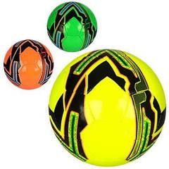 М'яч футбольний 3000-12ABC (30шт) размер5, ПУ, ручна робота, 1,5 мм, 4слоя, 32панели, 400-420 г, 3 кольори