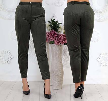 """Женские стильные брюки в больших размерах 522 """"Вельвет Классика"""" в расцветках"""