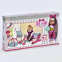 Пупс функциональный с кроваткой, коляской, ковриком для куклы и аксессуарами