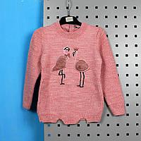 Кофта вязаная для девочки Фламинго тм Tombul girl размер 1,3