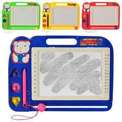 Дощечка 991 для малювання, ч/б, фігурки 3 шт,4 кольори, в кульку, 27-20-2 см