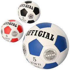 М'яч футбольний OFFICIAL 2500-200 размер5,ПУ,1,4 мм,32панели, ручн.робота,420-430г,3ол,в кульку