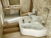 Гидромассажная ванна  Leda 160 x 100 POOLSPA с системой гидро-аэромасажа :