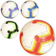 М'яч футбольний MS 2010 размер5, PVC, 12панелей, 350г, 4цвета
